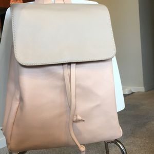 Blush and cream backpack